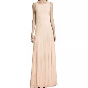 Alice & Olivia champagne evening gown. Size 2